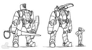 CG Heavy Power Armor WIP by JazzLizard