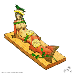Cedar Planked Salmon by JazzLizard