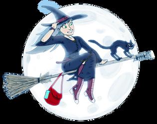 Woosh goes the Witch! by JazzLizard