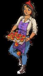 The Clumsy Caramel Apple Girl by JazzLizard
