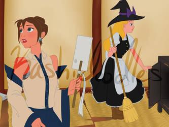 Disney Touhou - Jane and Alice by Kashidoodles
