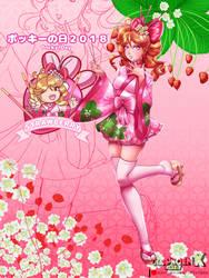 Strawberry Pocky ~ Ichigo-tan [Pocky Day 2018] by DeadPhoenX