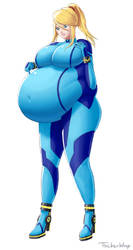 Samus Weight Gain (3 of 6) by thickerwasp
