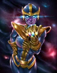 Lady Thanos by BornTewSlow