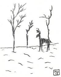 A deer in the snow by mekkasop