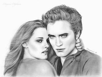 Bella and Edward by MayumiOgihara