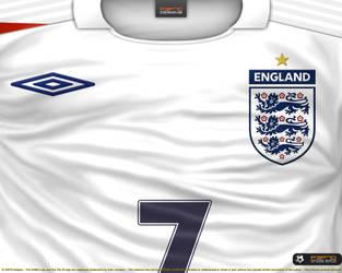 74be9812c P3P70 2 0 England home shirt 2006 by P3P70