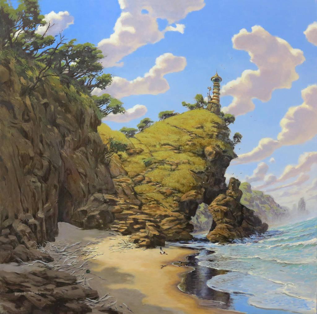 Lighthouse by postapocalypsia