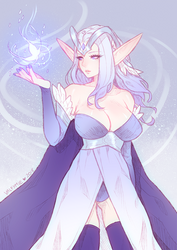 The Highelf Sorceress by Qube-Core