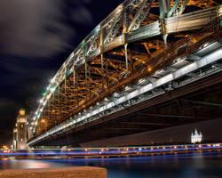 Bolsheohtinsky bridge by doberman4ik