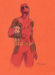 Deadpool Sketch by AdamBayes