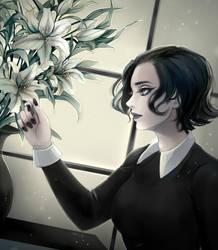 White Lilies by Harumagai