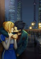 Lancer kiss Saber by modrawmanga