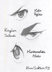 Practice ~ Anime Eyes ~ Kill la Kill by BloodyAkuma93
