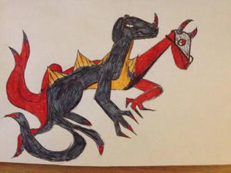 chimera goat dragon by TTheFaceless