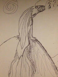Poorly drawn Fish Siren by TTheFaceless