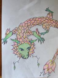 Flower Dragon by TTheFaceless