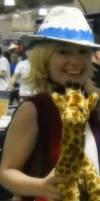 Patty and the giraffe at AB'12 by xSaVaNnAbaNaNaX