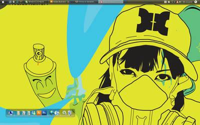 Paranoid desktop by O4x4ca