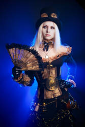 Golden Steampunk girl Stock by Nerium-Oleanders