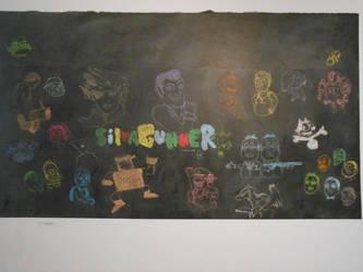 Siivagunner Chalkboard Artwork by BAS229