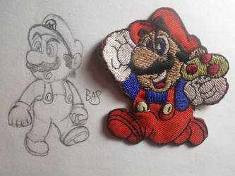 Classic Mario Skidoodle by BAS229