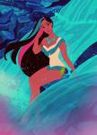 Color Splash Pocahontas by Wickfield