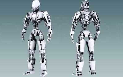 Cyber Bot WIP by TronixGFX