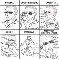 Style meme: Wesker by Silent-Neutral