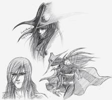 'D' pen sketches by Silent-Neutral