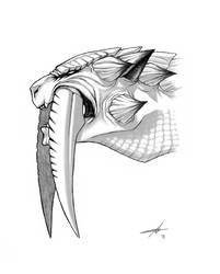 Barioth headshot Monster Hunter by Silent-Neutral