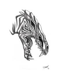 Odogaron headshot Monster Hunter by Silent-Neutral