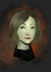Saoirse Ronan portrait by hakobokicksass