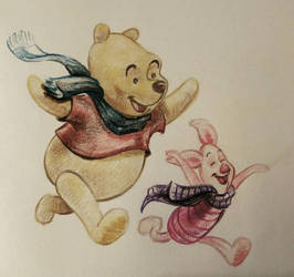 winnie the pooh and piglet by sdvis