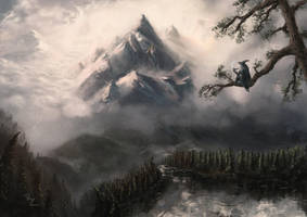 Somewhere in the the Misty Mountains by Crocorax