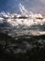 The Lonely Mountain from Mirkwood by Crocorax