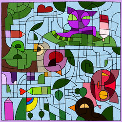 16th birthday colour challenge by RowanLewgalon