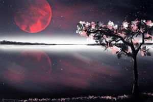 Red moon by TalviEnkeli