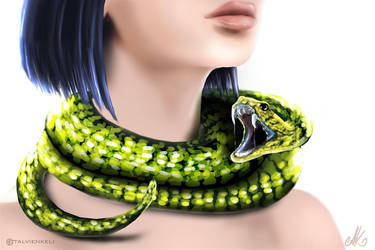 Serpent necklace by TalviEnkeli