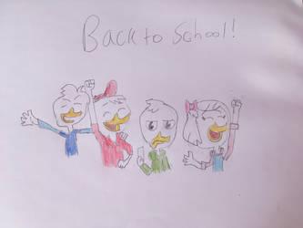 School is back! by Ducktalesfan001