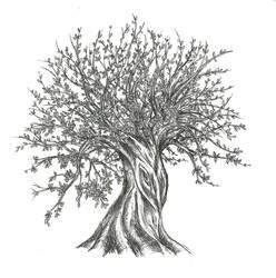 Misc. Art: Inked Tree by TeamSLVR