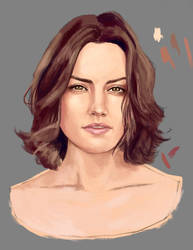 Daisy Ridley portrait WIP by danhel67