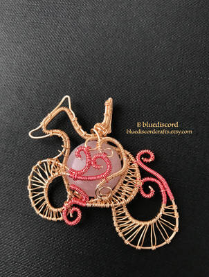 Miniature Mythical Fox Pendant by craftsbyblue