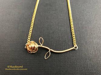 Customizable Rose Stem Necklace by craftsbyblue
