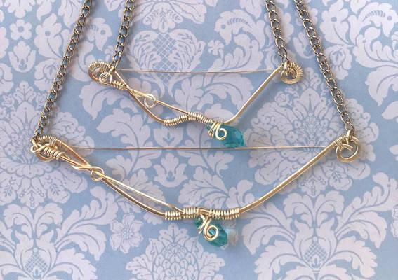 For Sale  Customizable Bow And Arrow Pendant  Ii