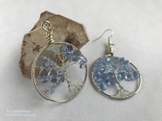 [Commission] Winter Tree of Life Earrings by craftsbyblue
