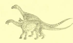Antetonitrus, Melanorosaurus by Kahless28