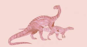 Lufengosaurus by Kahless28