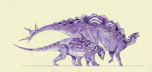 Thyreophorans from Morrison by Kahless28