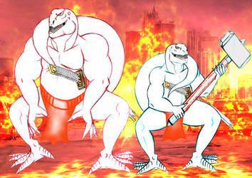 Wreaking havoc together by Swordsdragon